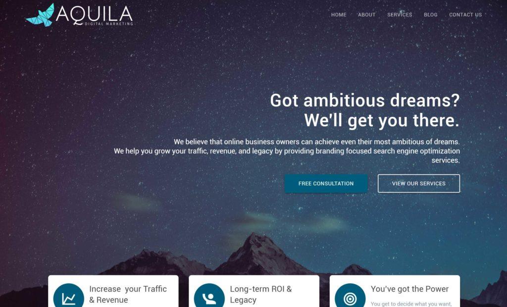 Aquila Digital Marketing Website